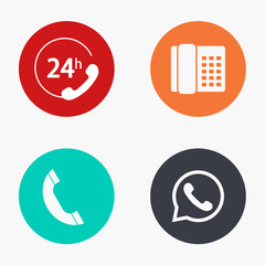 Vector modern phone colorful icons set