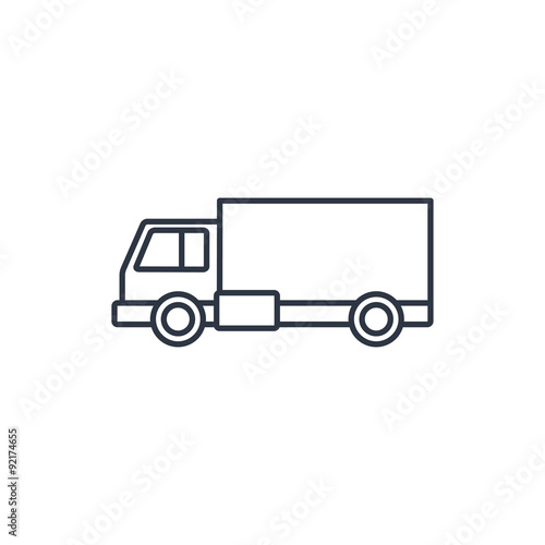Truck Outline Vector | www.pixshark.com - Images Galleries With A Bite!