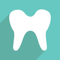 Web icons modern design for mobile shadow, tooth