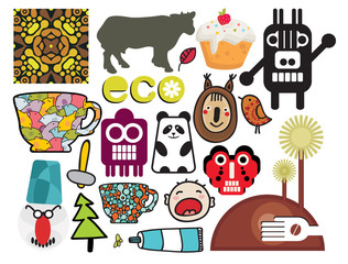 Mix of different vector images. vol.56