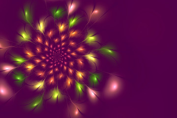 abstract lilac flowerfractal background