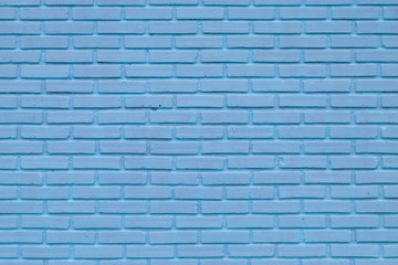 Blue brick wall texture in horizontal view