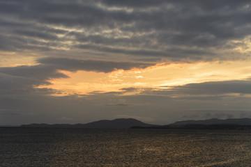 Beautiful sea sunset .