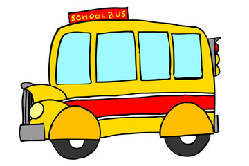 Hand Draw Sketch of School Bus