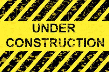 Grunge Square sign - Sign - Under Construction