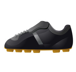 Soccer shoes vector icon image
