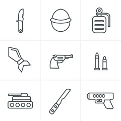Line Icons Style  military icons