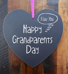 Happy Grandparents Day Heart Shape Blackboard