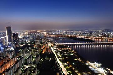 漢江の夜景 韓国・ソウル