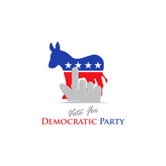 vote for democratic party America logo icon
