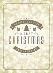 Christmas lights and typography label design