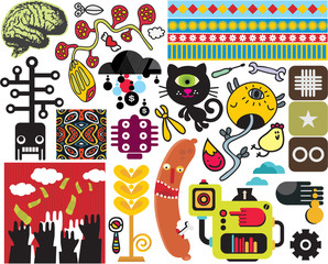 Mix of different vector images. vol.50