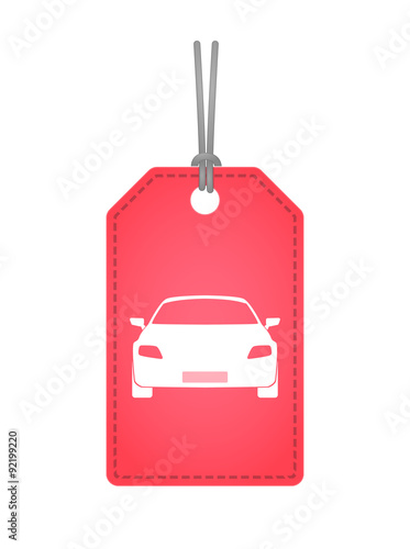 Isolated label icon with a car