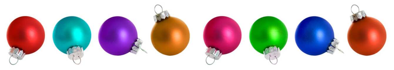 Christmas: Christmas Ornaments In All Colors