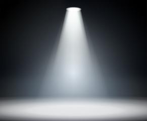 Printed kitchen splashbacks Light, shadow Dark background with spotlight.