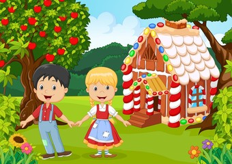 Classic children story. Hansel and Gretel