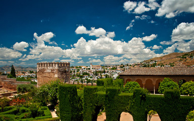 The famous Alhambra and Generalife in Granada, Spain