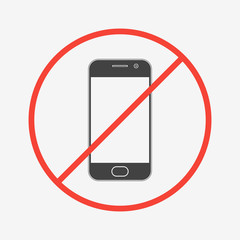 No mobile phone icon