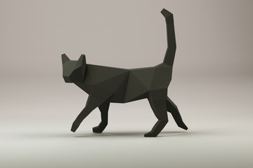 chat noir style origami