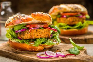 Gesunder Veganer Burger