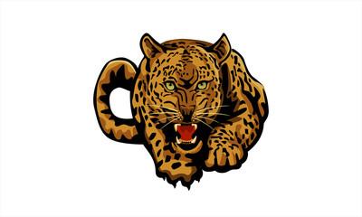 anggry tiger vector