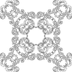 Baroque art rosette nice pattern