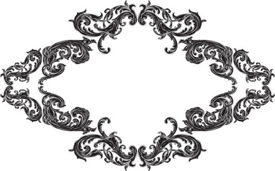 Nice frame with acanthus pattern