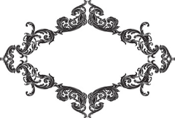 Nice frame with black acanthus pattern