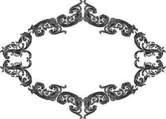 Nice vintage frame with black acanthus pattern