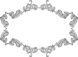 Ornate acanthus nice ornament art frame