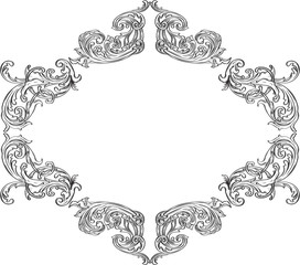 Ornate acanthus nice ornament frame