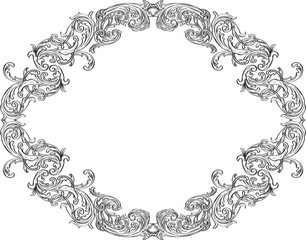 Ornate acanthus ornament frame