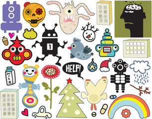 Mix of different vector  icons. vol.36