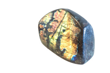 Wall Mural - Colorful raw labradorite gemston