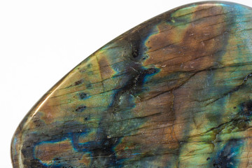Wall Mural - Close up colorful raw labradorite gemstone