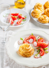 duchesse potatoes with mushrooms