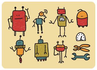 Retro robots.