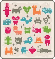 Zoo of robots coming from the other planets.
