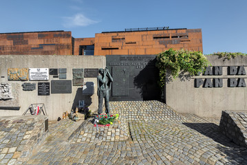 Gdansk, Poland. The ECS museum located at the docyard is a memorial of anti-communist opposition in Poland