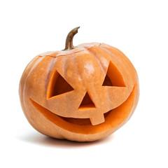 Festive Halloween carved pumpkin