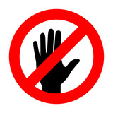 """""""don't touch icon great for any use. Vector EPS10."""" Stock ..."""