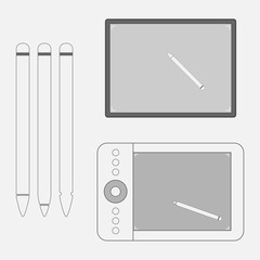 Set of graphic Tablets with Pens