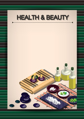 Creative Spa poster Template Brochure Vector Paper Design Template for infographics and banners concept