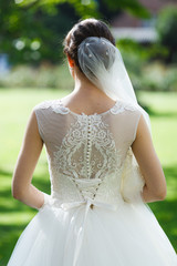 Beautiful wedding dress (back view)