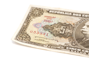 5 Brasilian cruzeiro banknote