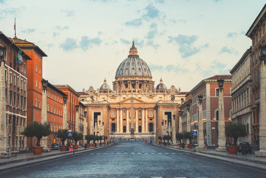 St Peters Basilica, Vatican City in the morning