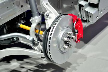 Car front suspension.