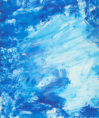 Textural grunge backdrop with blue paint