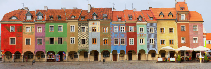 Wall Mural - crooked medieval houses , Poznan, Poland
