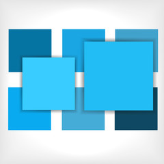 Blue  geometrical abstract background